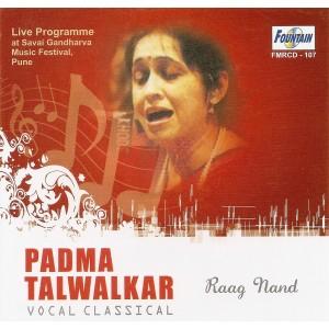 Padma Talwalkar - Audio CD